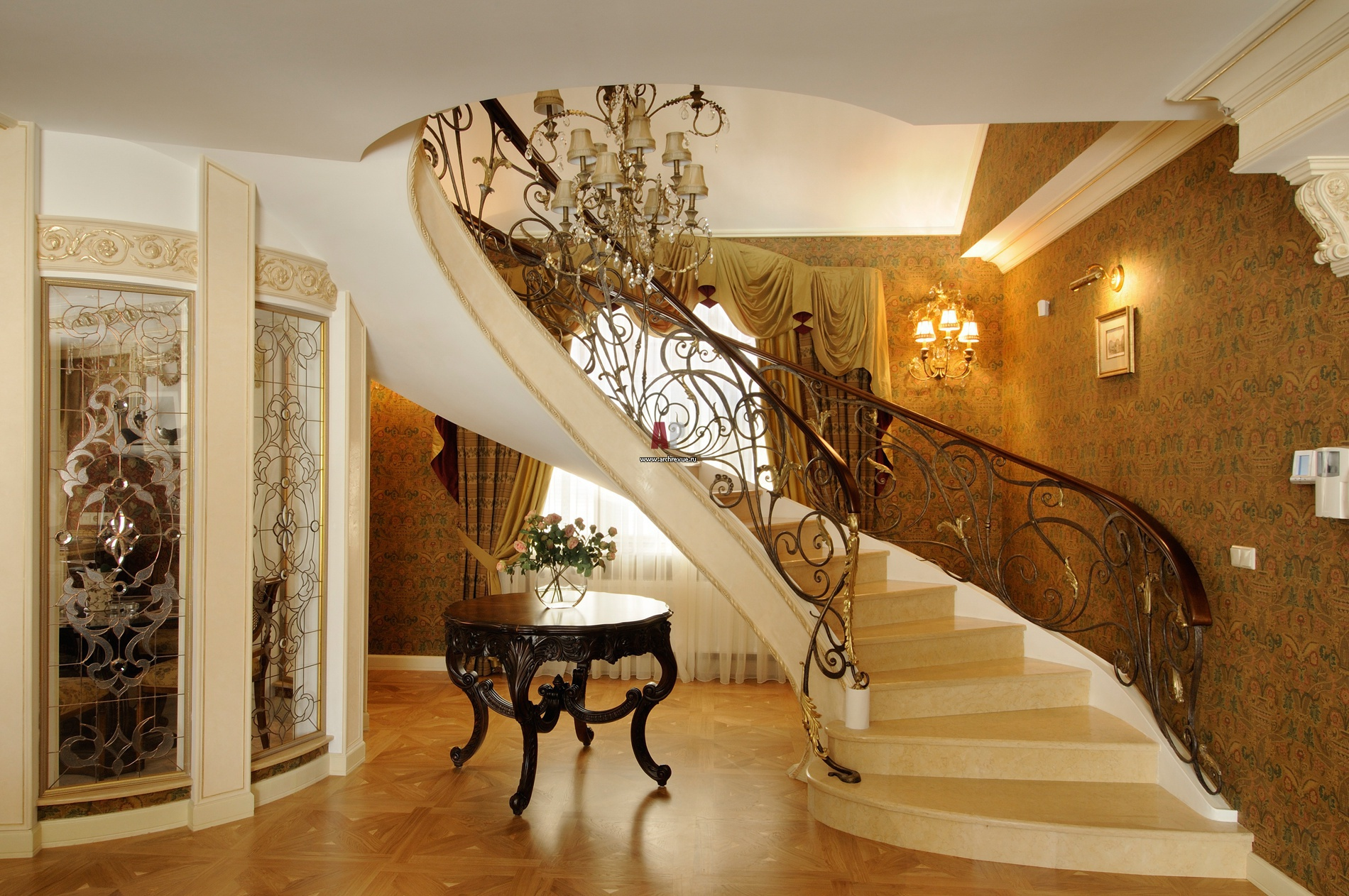 Дизайн входной лестницы
