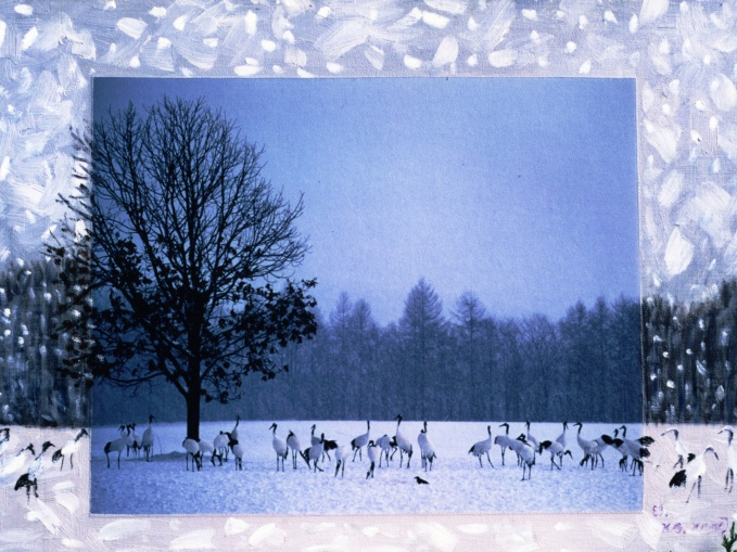 Kang Gyung Sook / Winter Serenade, 72.7x53cm, Photography, Oil on Canvas 2000