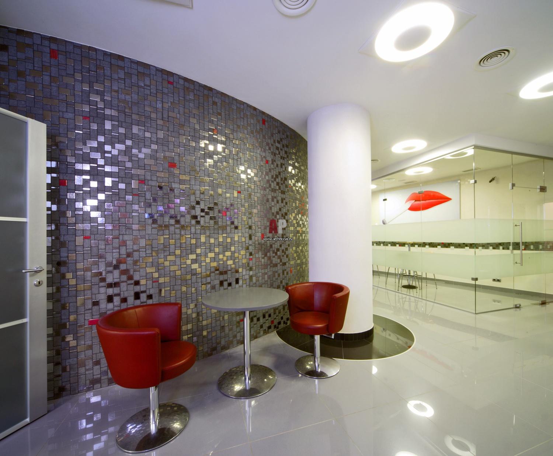 Дизайн напольной плитка мозаика в офисах