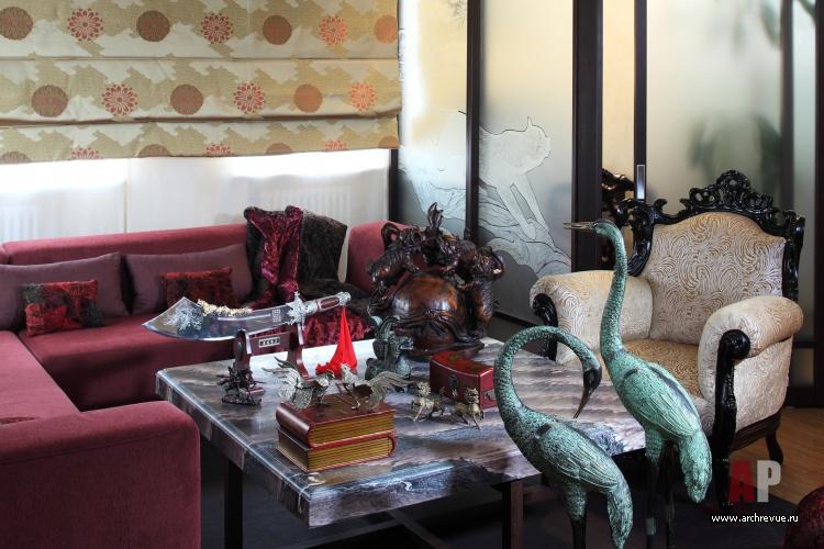 Фото интерьера гостиной квартиры в восточном стиле 01b929d944b17