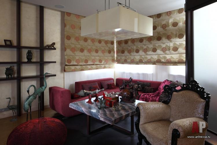 Фото интерьера зоны отдыха квартиры в восточном стиле 84d1fc5a86cc3