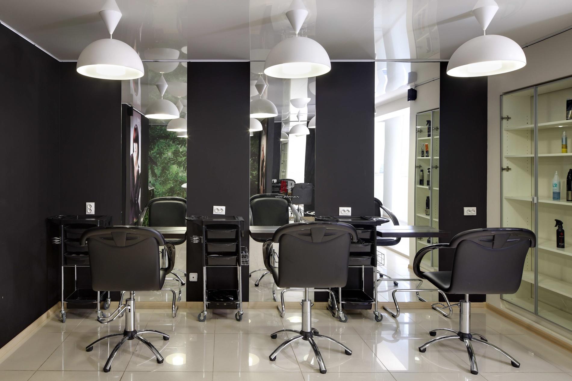 Дизайн мужской парикмахерской