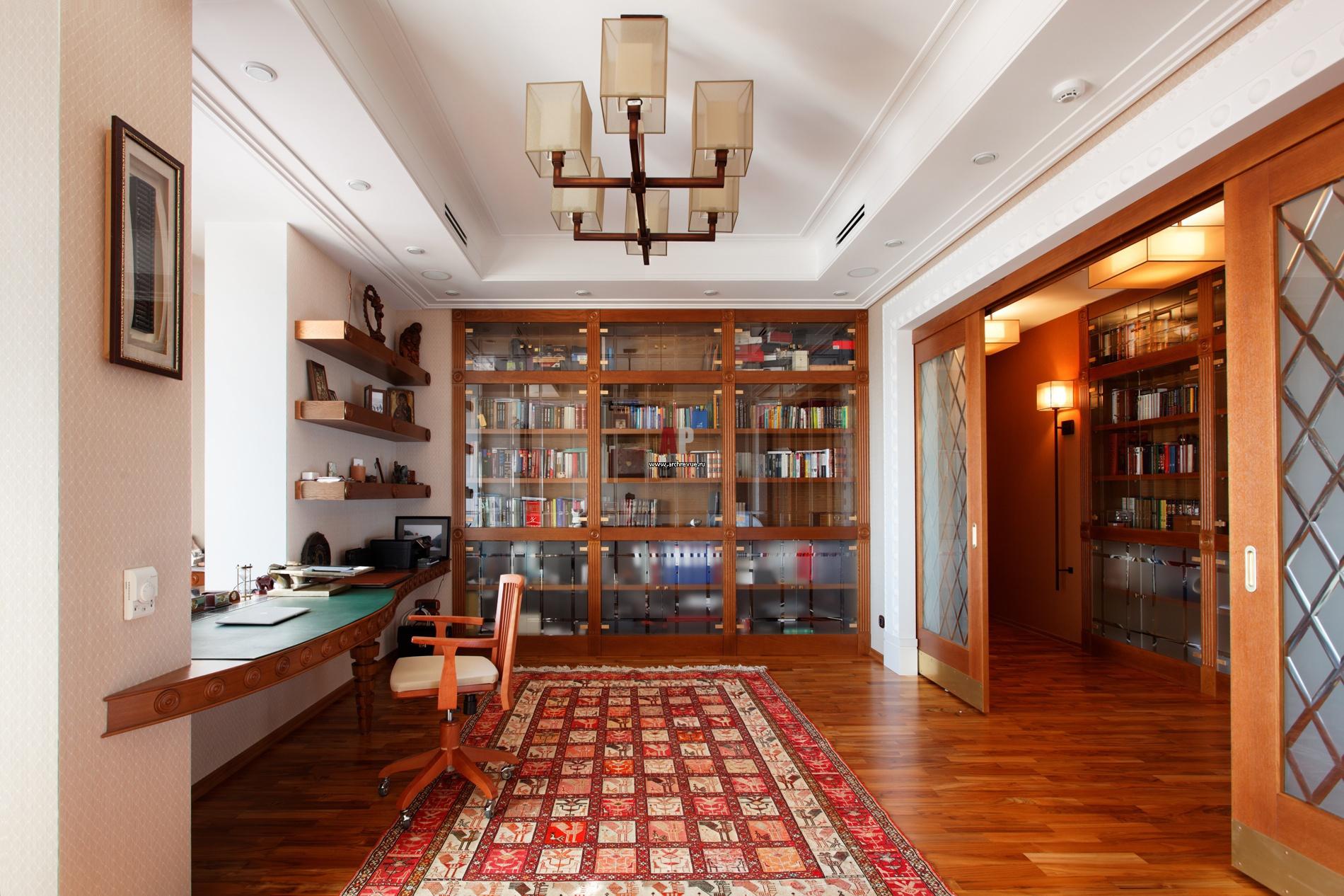 Библиотека в квартире фото