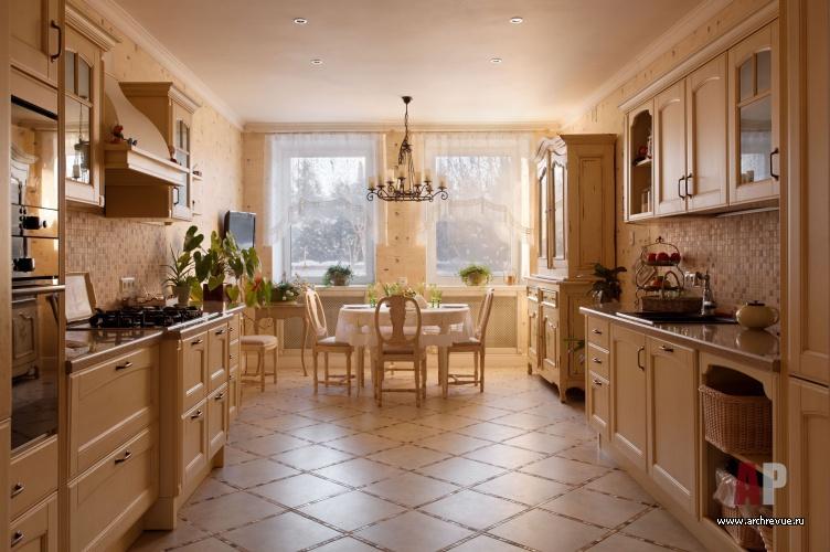 Кухни загородного дома в стиле фьюжн