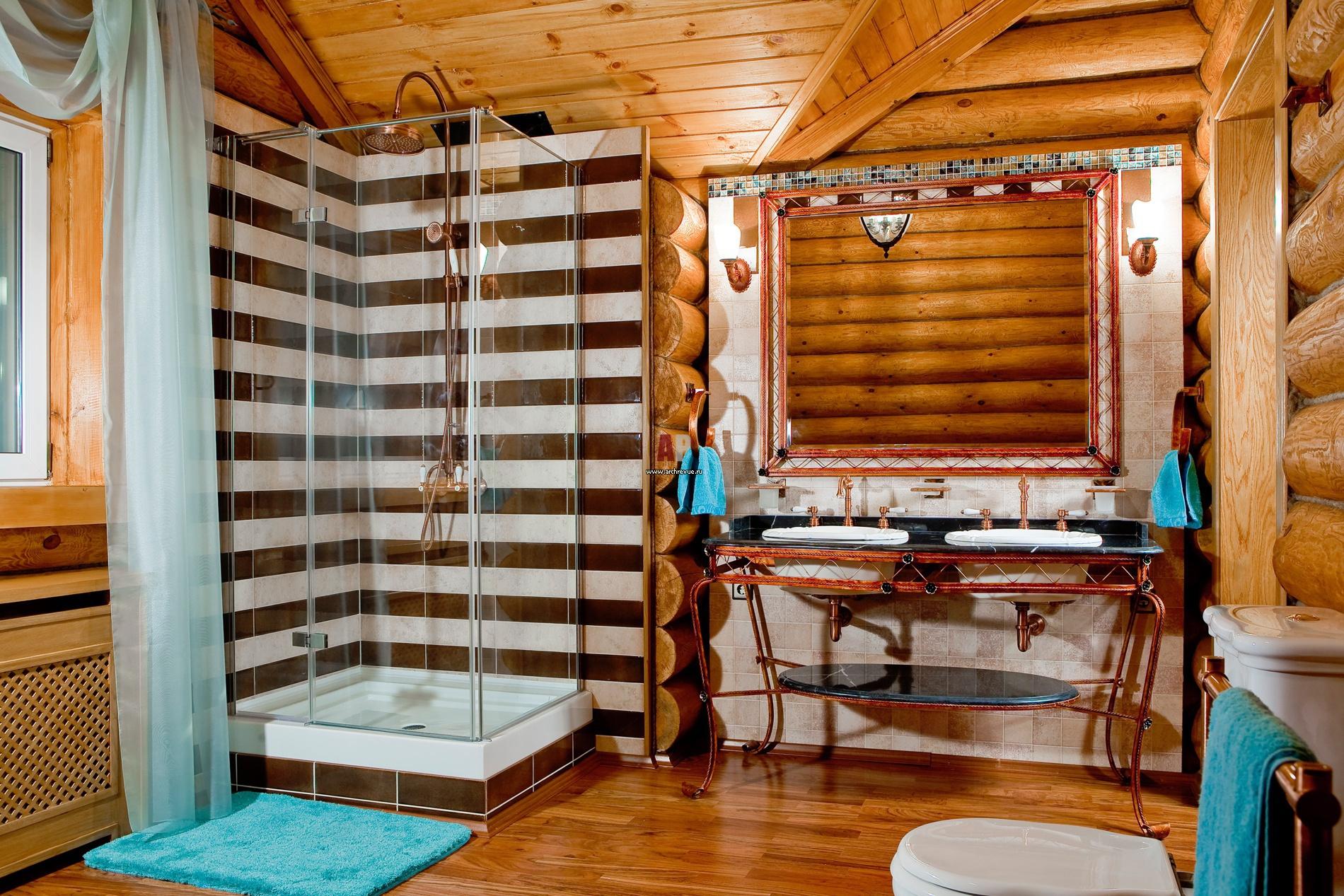 Дизайн санузлов в деревянных домах
