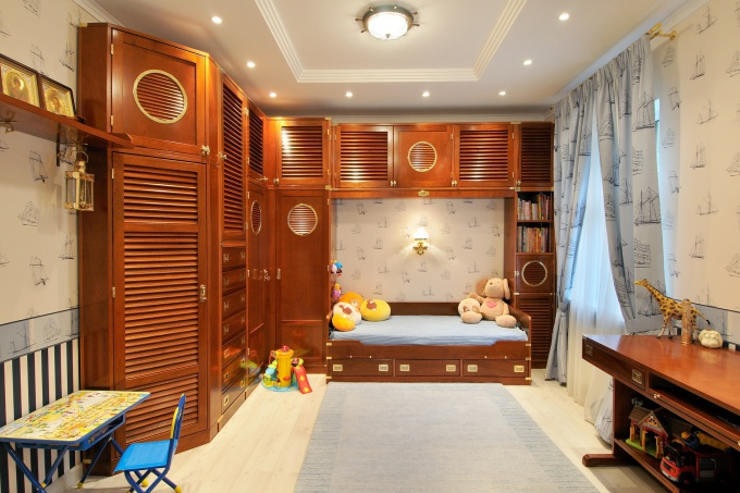 Детская для мальчика дизайн потолка