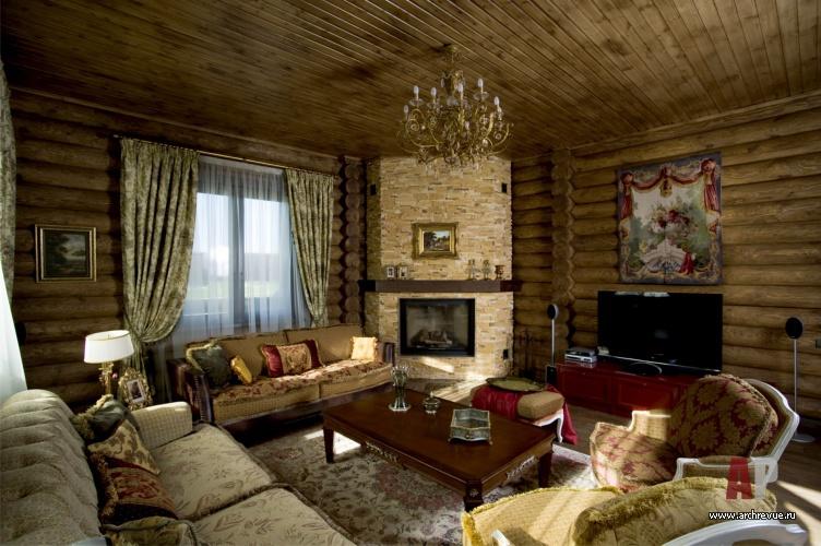 Фото интерьера гостиной гостевого