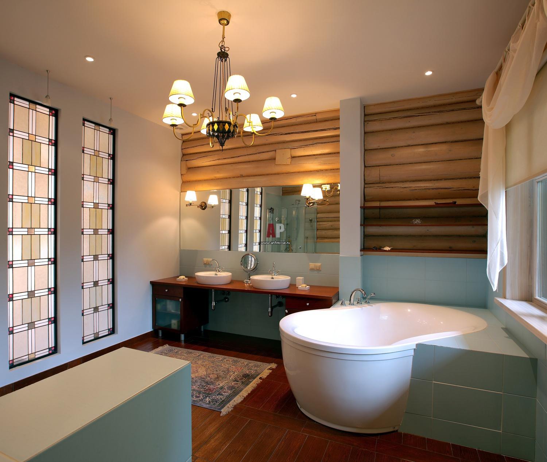 Фото интерьера деревянного дома из оцилиндрованного бревна внутри 125