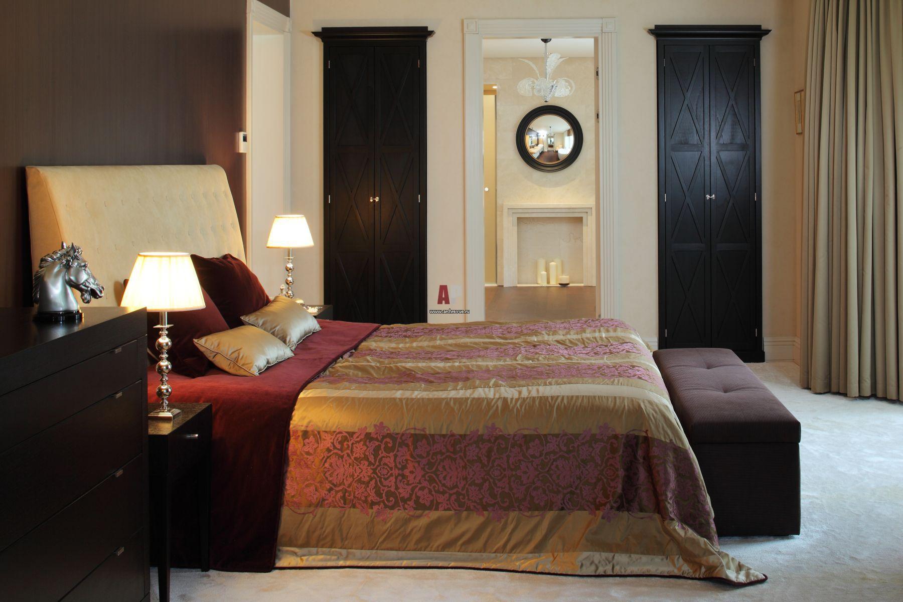 Интерьер спальни в стиле фьюжн