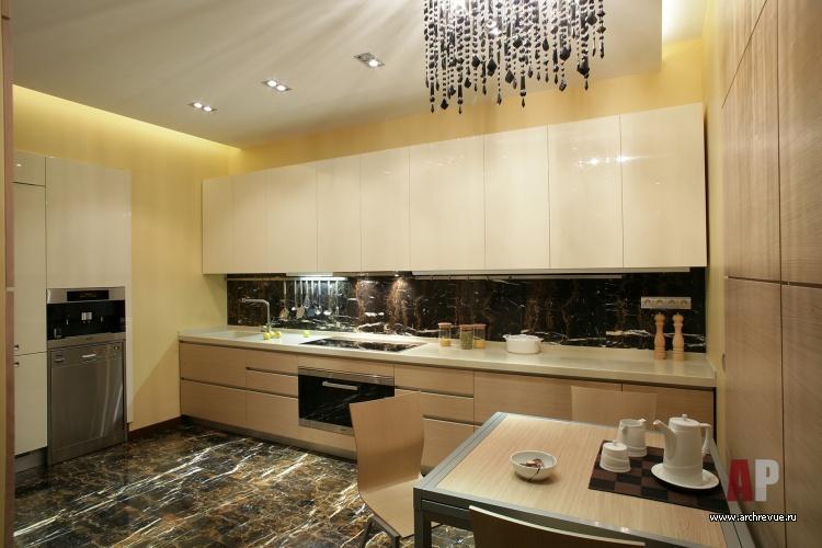 Кухня дизайн пол