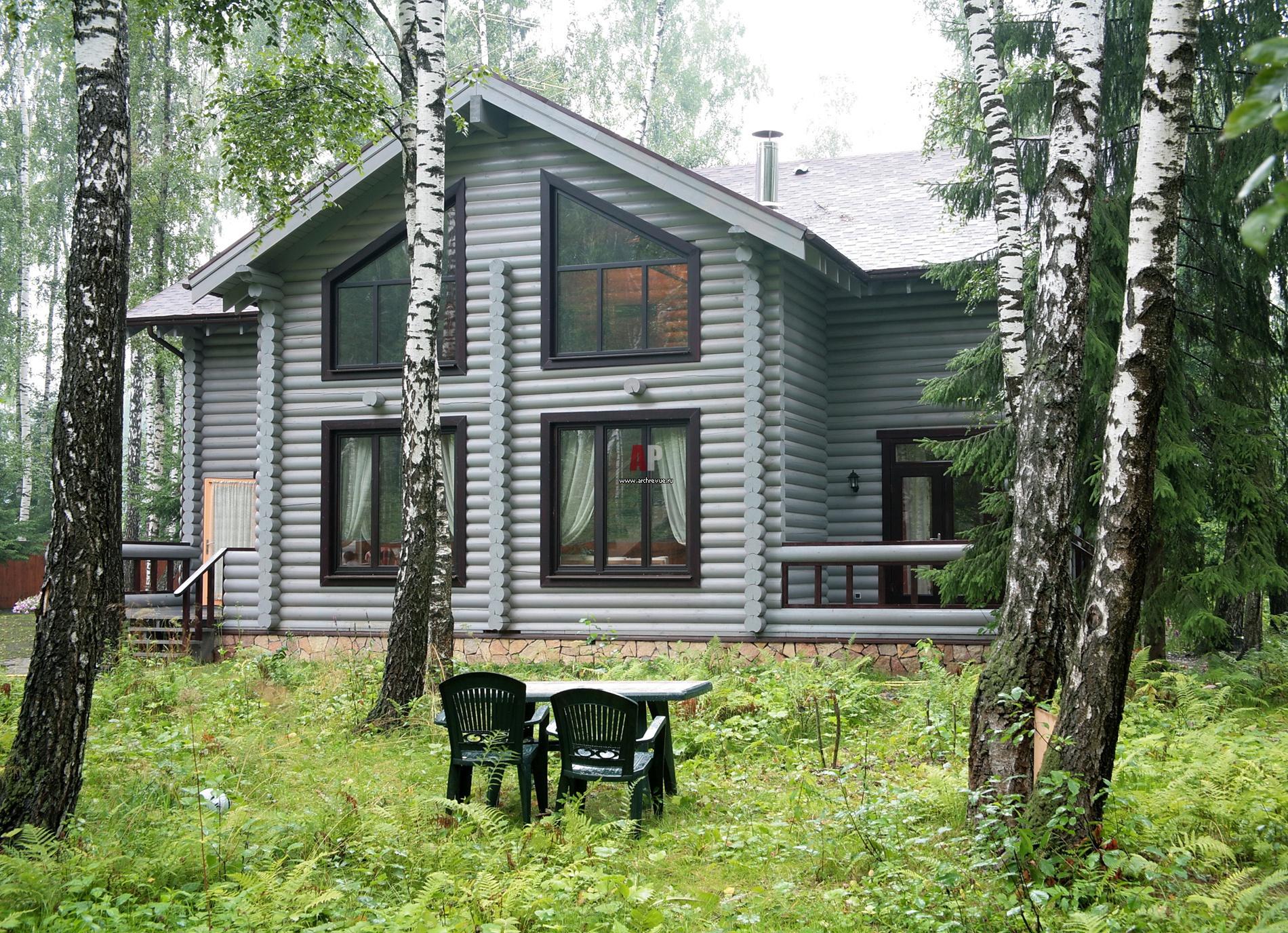 Фото фасада деревянного дома в