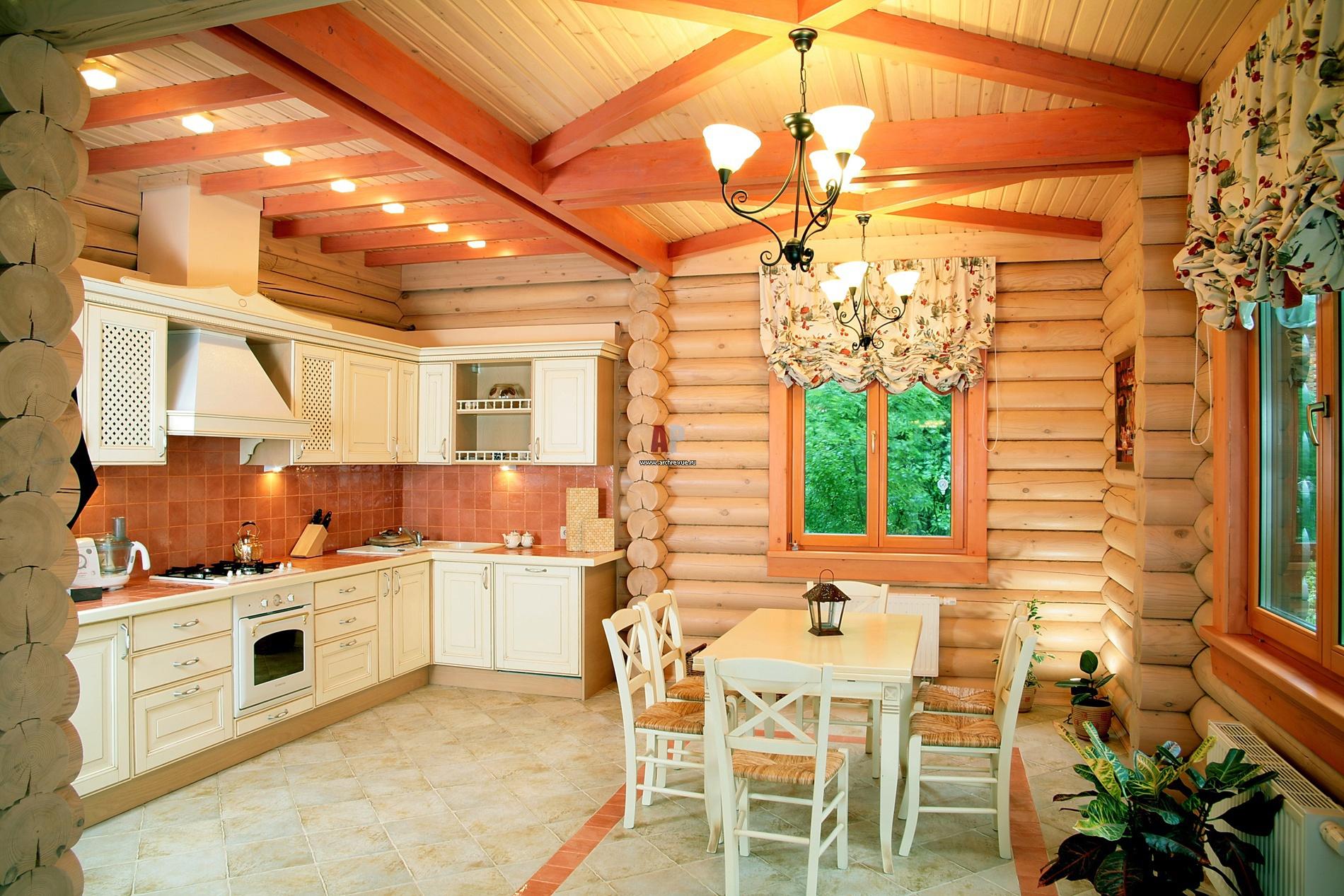 Интерьер деревянного дома в скандинавском стиле