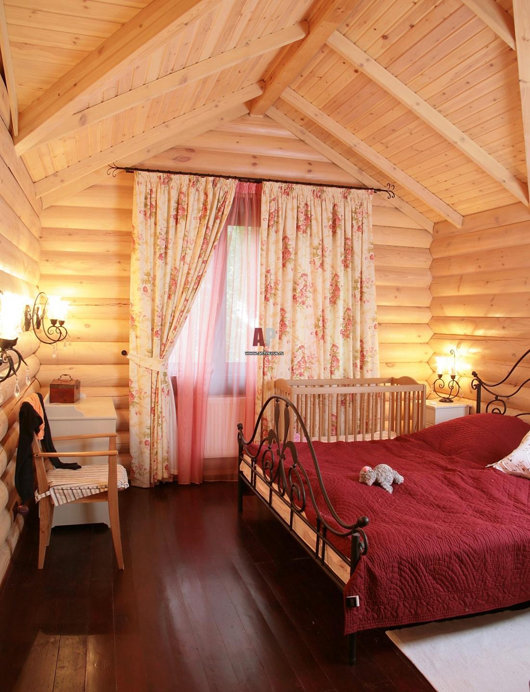 Как украсить комнату в деревянном доме своими руками 25