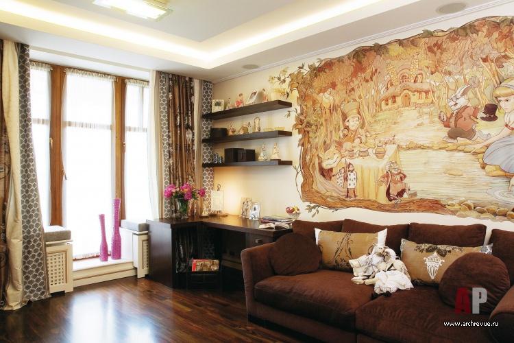 Детская комната с росписью стен